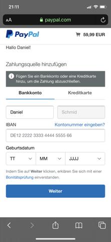 Paypal Zahlungsquelle Hinzufügen Obwohl Bereits Vorhanden