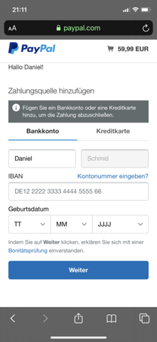 Paypal Will Bankkonto Hinzufügen Obwohl Vorhanden