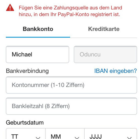Tipico Bankverbindung