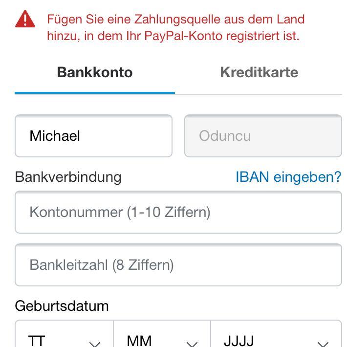 Warum Muss Ich Bei Paypal Eine Neue Zahlungsquelle Hinzufügen