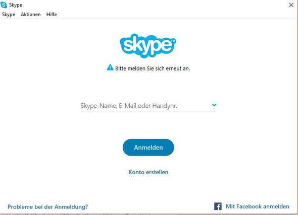 Warum muss ich mich bei skype dauernd neu anmelden?