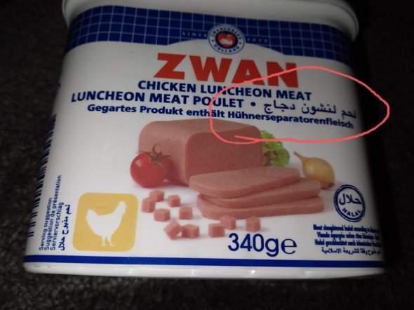 Warum schmeckt es gut, wenn es Seperatorenfleisch enthält?