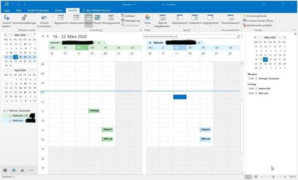 Warum sieht der Outlook-Kalender plötzlich anders aus?