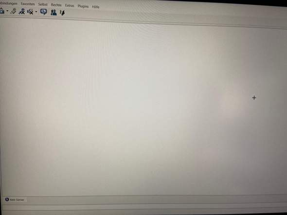 Warum sieht der Ts auf meinem Laptop so leer aus?