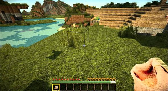 so wie hier auf dem Bild - (Minecraft Mods, minecraft texture packs, Minecraft Hd Grafik)