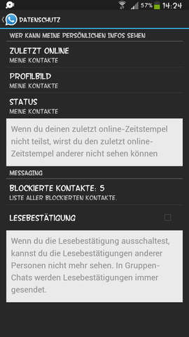 Whatsapp sehen blockierte kontakte profilbild