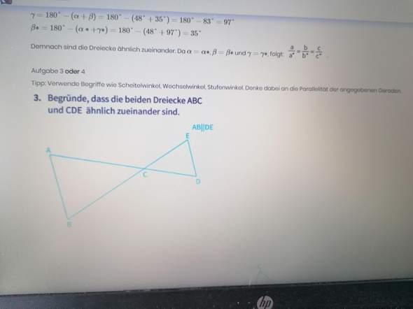 Warum sind die Dreiecke ähnlich zueinander?