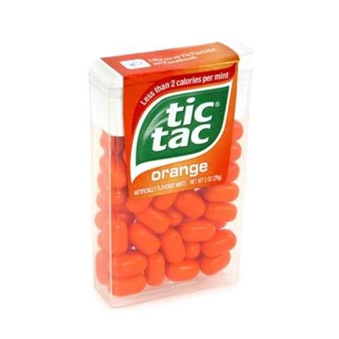 Warum sind die Orangengeschmack Tic-Tacs nicht mehr orange?