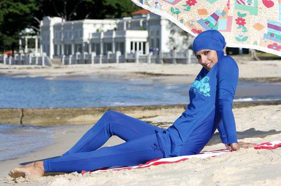 Burka Am Strand