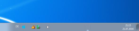 Unsichtbare Symbole in der Taskleiste - (Windows 7, Symbol, Taskleiste)