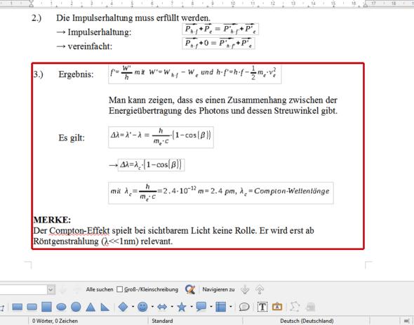 Die Formeln sehen im Vergleich zum Rest des Textes anders aus. - (Word, Office, Formel)