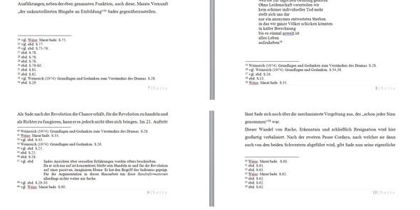 Fußnoten bei Fließtext - (Word, formatieren, Fußnote)