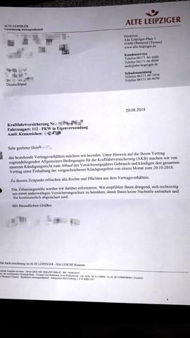 Warum Von Kfz Versicherung Alte Leipziger Gekundigt Recht