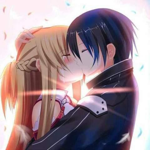 Warum weint Asuna auf diesem Bild? Ist das Bild eine Szene aus der Serie oder Fanart?