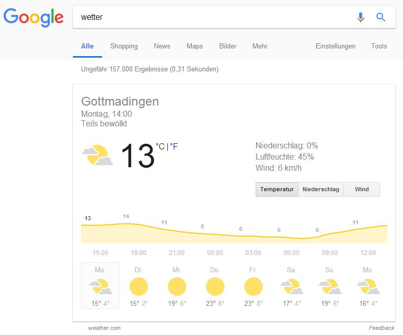 Ok Google Wetter