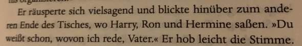 Warum werden Harry, Ron und Hermine immer in der gleichen Reihenfolge Geschrieben?