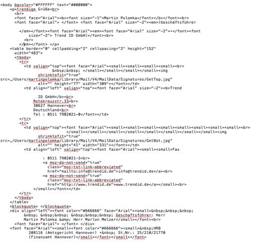 HTML Code - (Computer, PC, programmieren)
