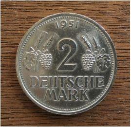 Warum Wird Ausgerechnet Die 2 Dm Münze I Ausgabe Prägedatum 1951