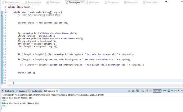 verglich - (Programm, programmieren, Informatik)
