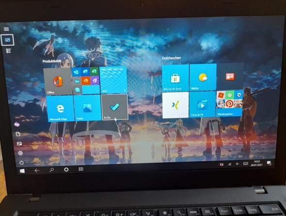 Warum wird mein Desktop nicht normal angezeigt?