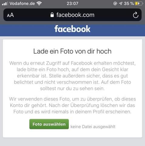 Wie facebook lange gesperrt vorübergehend Facebook Konto