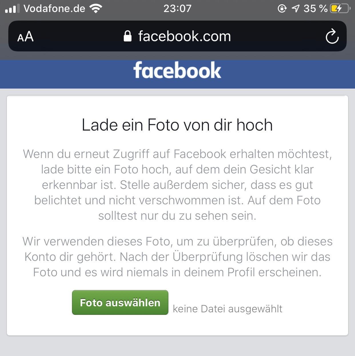 Warum wird mein Facebook Konto immer wieder gesperrt
