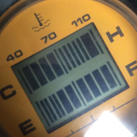 Wie man sieht steigt die Temperatur voll bis 110 - (Auto, Roller, KFZ)