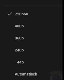 Warum wird mir bei YouTube nicht mehr das HD-Zeichen bei 720p angezeigt, sondern nur bei 1080p?