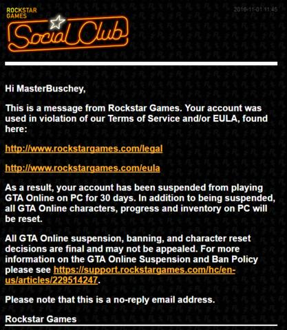 Aus der E-Mail! - (GTA online, Grand Theft Auto, Rockstar)