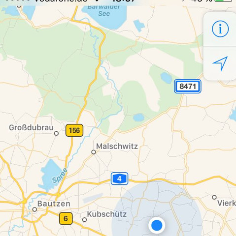 Falsch - (iPhone, GPS, Standort)