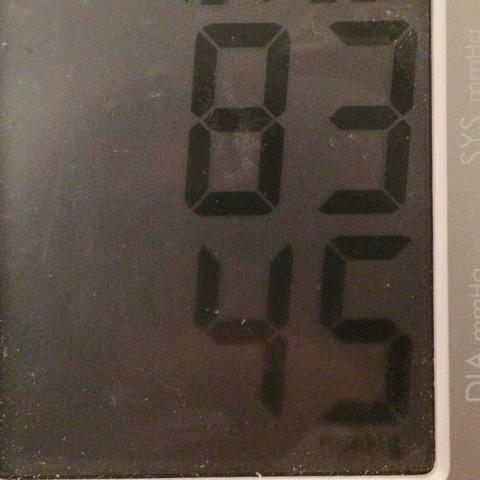 Im sitzen gemessen - (Blutdruck, Puls, Niedrig)