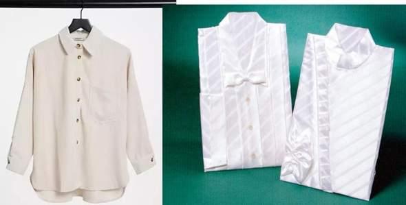 Was anziehen wenn man tot ist, Hemd, Bluse aus dem eigenen Kleiderschrank oder das letzten Hemd?