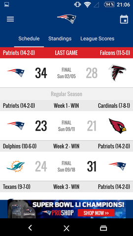 Zahlen - (Sport, Football, American Football)