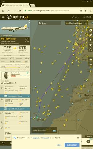 Striche - (Flugzeug, Flightradar)