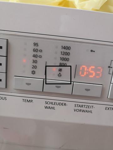 Was bedeuten diese Symbole auf der Gorenje Waschmaschine?