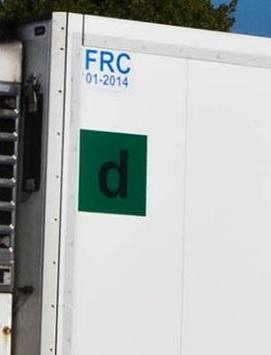 Was bedeuten diese Zeichen auf dem Kühlerauflieger (LKW)?