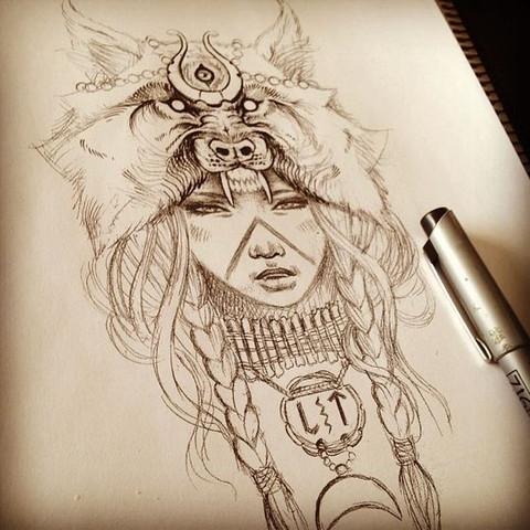 Was Bedeuten Diese Zeichen Bei Meinem Motiv Tattoo Symbol Indianer