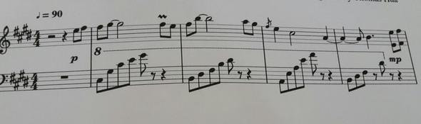 Das Klavierstück  - (Schule, Musik, Noten)