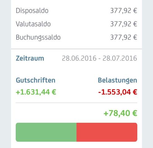 Wieviel Geld habe ich zur Verfügung? - (Bank, Konto)