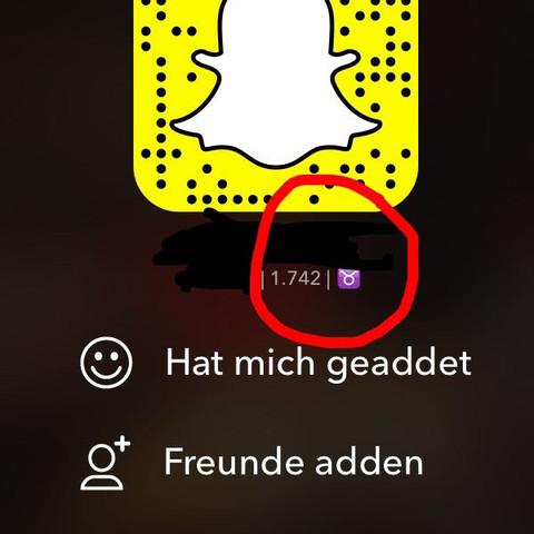 Gemeint ist das lila Symbol im roten Kreis :) - (Bedeutung, Snapchat, Symbol)