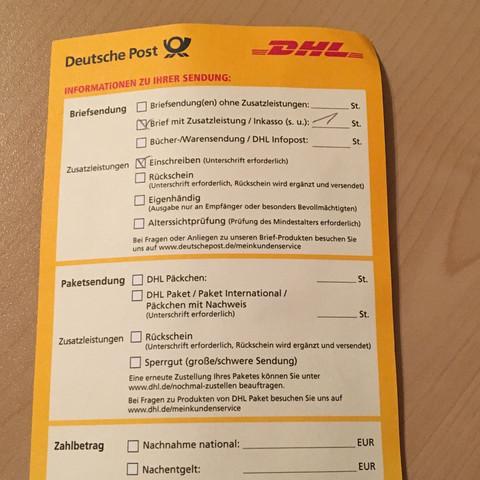 So sieht der Zettel aus - (Arbeit, Job, Bewerbung)