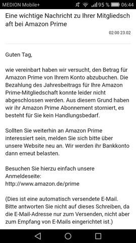 Amazon Prime Abonnement stornieren - (Bank, amazon prime, stornieren)