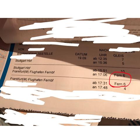 Was bedeutet das bei dem ICE Ticket?