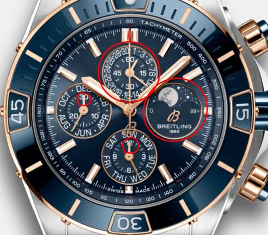 Was bedeutet das bei diesen Breitling Uhren?