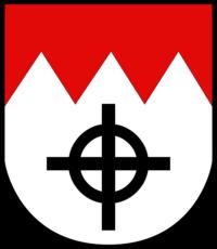 Was bedeutet das Kreuz mit dem Kreis auf dem Wappen von Würzburg?