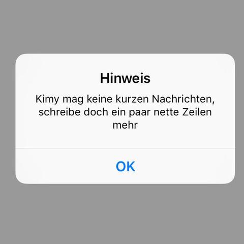 Hinweid - (Handy, iPhone, WAS-schreiben)