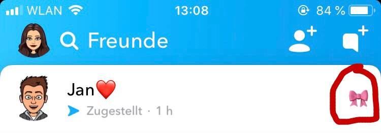 Snapchat smiley rote backen