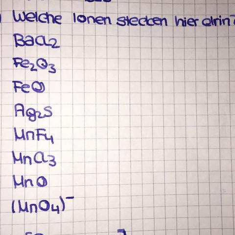 Chemietestaufgabe - (Chemie, Ionen)