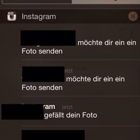 Sowas hier bekomme ich die ganze Zeit :/ - (instagram, Bedeutung, insta)