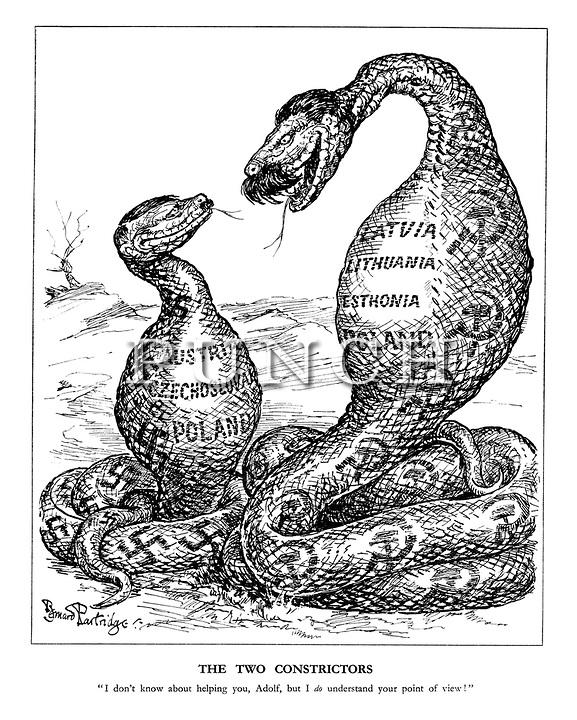 Was bedeutet diese Karikatur? Hitler-Stalin-Pakt? (Schule